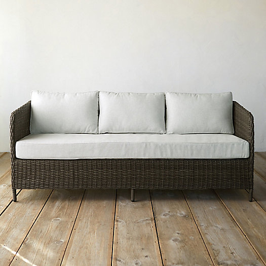 View larger image of Narrow Arm All Weather Wicker Three Seat Sofa