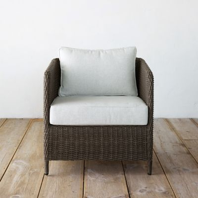 Narrow Arm All Weather Wicker Chair
