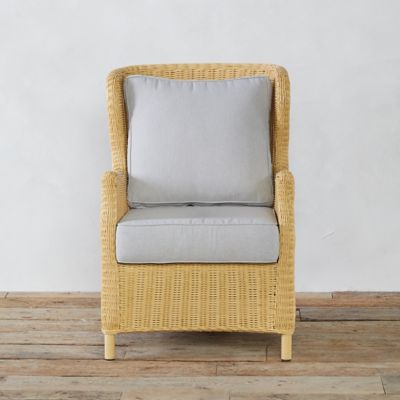 Modern Wingback All Weather Wicker Chair