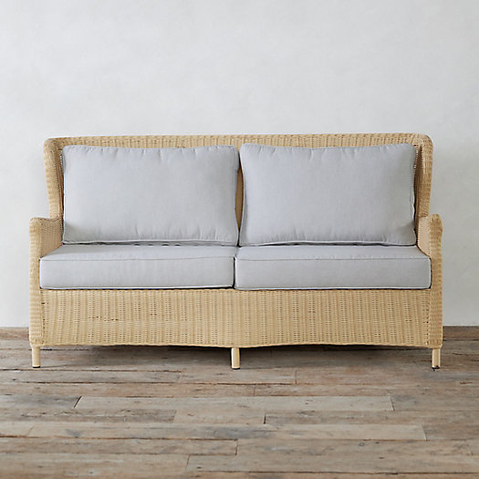 View larger image of Modern Wingback All Weather Wicker Sofa