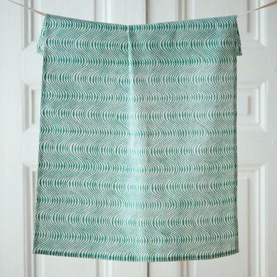 Cotton Block Print Tea Towel