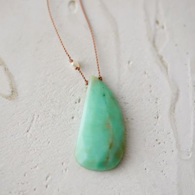 Pearl & Chrysoprase Duo Necklace