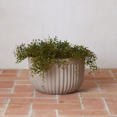 Fiber Concrete Barrel Bowl