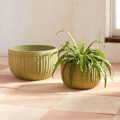 Fiber Concrete Barrel Bowl