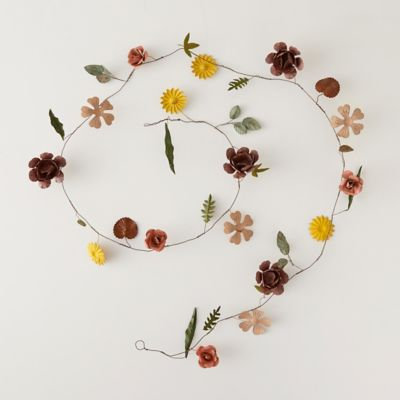 Pressed Metal Flower Garland