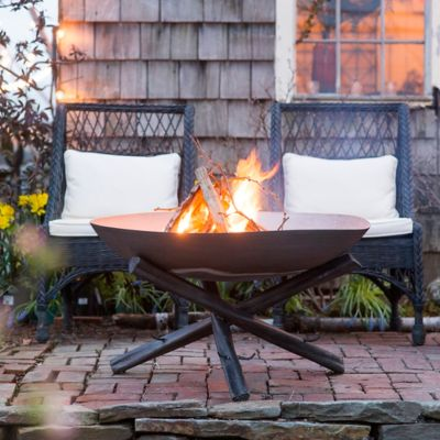 Tabletop Log Base Fire Pit