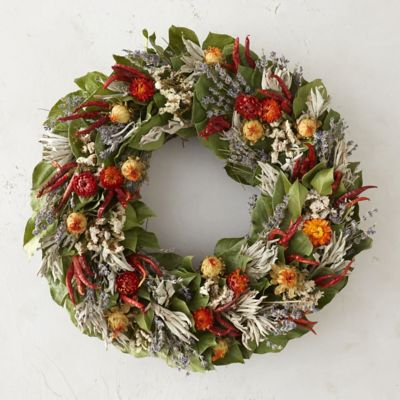 Hot Pepper & Sage Wreath