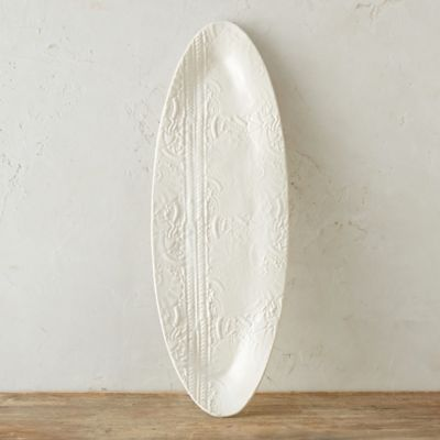 Source and Tradition Pressed Porcelain Fish Platter