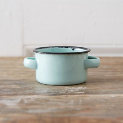 Mint Enamel Dessert Pot