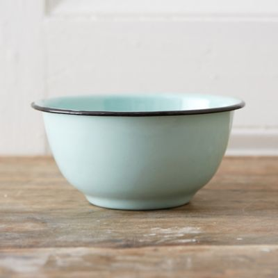 Mint Enamel Bowl