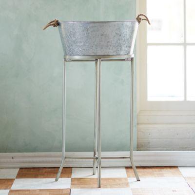 Zinc Beverage Bucket & Stand