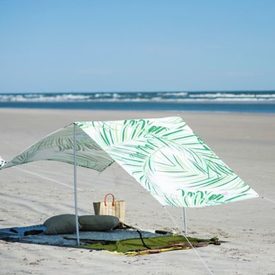 Palm Leaf Cotton Canvas Sun Shade