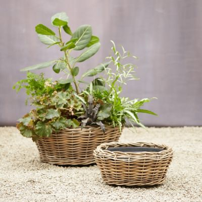 Watertight Rattan Low Bowl