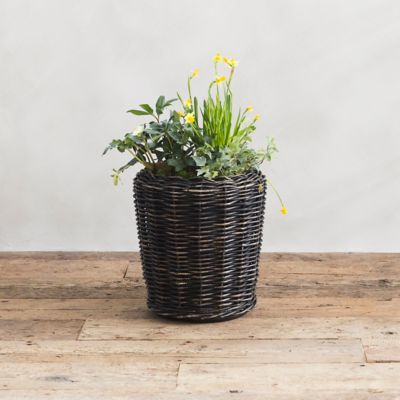 Watertight Rattan Taper Pot