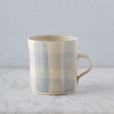 Gingham Porcelain Mug