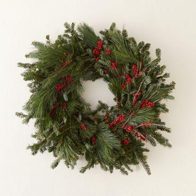 Fresh Winterberry & Pine Wreath