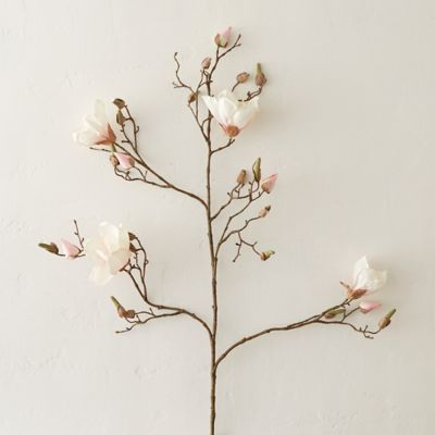 "43"" Faux Magnolia Branch, Pink"