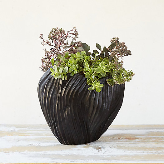 View larger image of Blackened Teak Tulip Planter