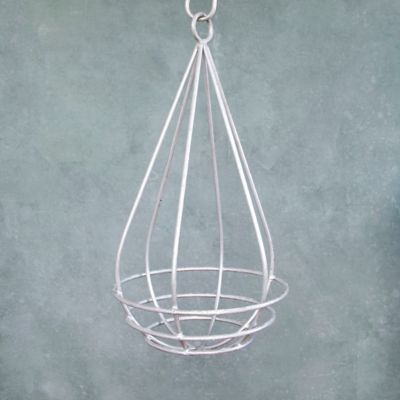 Zinc Raindrop Hanging Basket