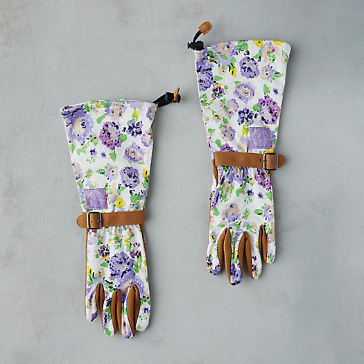View larger image of Floral Twill Garden Gloves