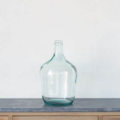 Glass Bottleneck Vase