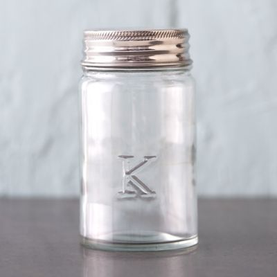Monogram Embossed Jar