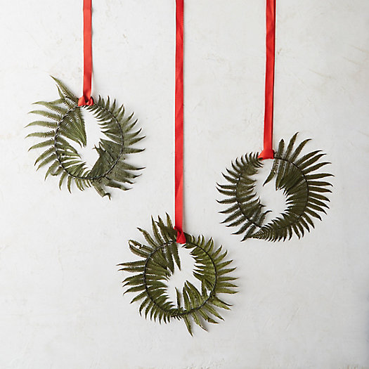 View larger image of Preserved Fern Circlet Trio, Parchment