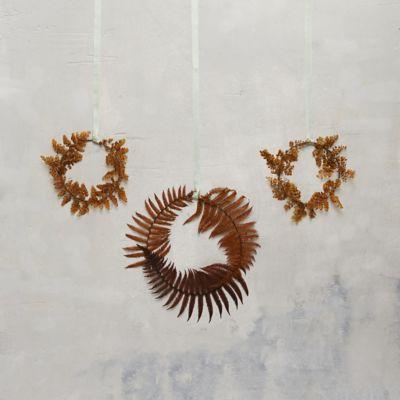 Preserved Fern Circlet Trio, Mix