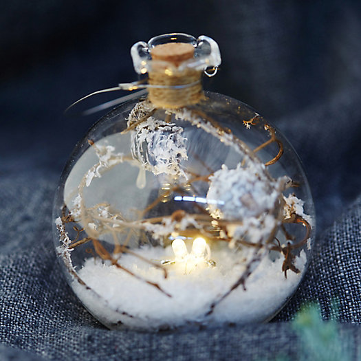 View larger image of Forest Scene Lighted Globe Ornament