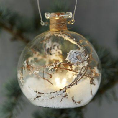 Forest Scene Lighted Globe Ornament
