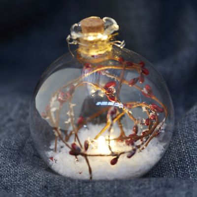 Forest Scene Lighted Globe Ornament