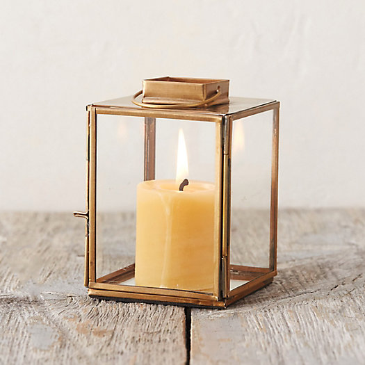 Brass Square Miniature Lantern by Terrain
