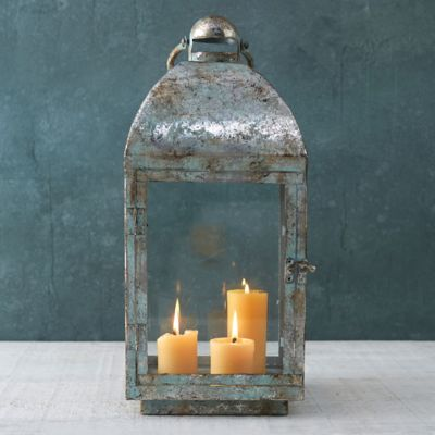 Antiqued Iron Lantern