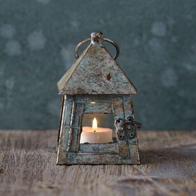 Antiqued Iron Miniature Lantern