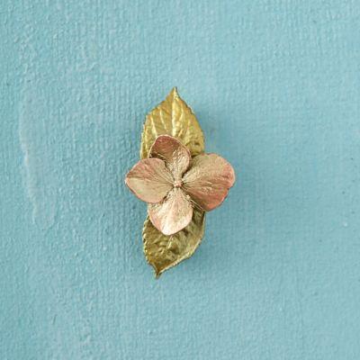 Hydrangea & Leaf Pin, Small