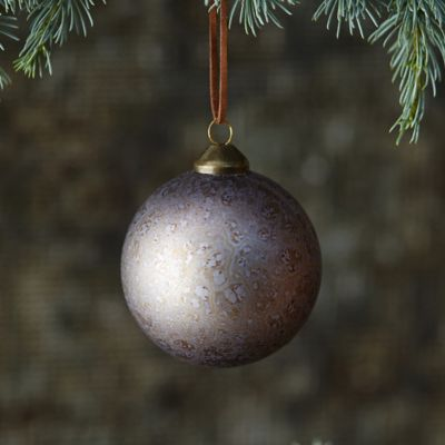 Metallic Swirl Globe Ornament