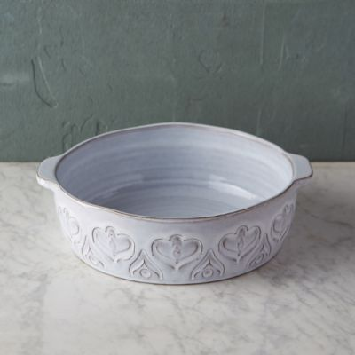 Embossed Terracotta Baking Dish, Small