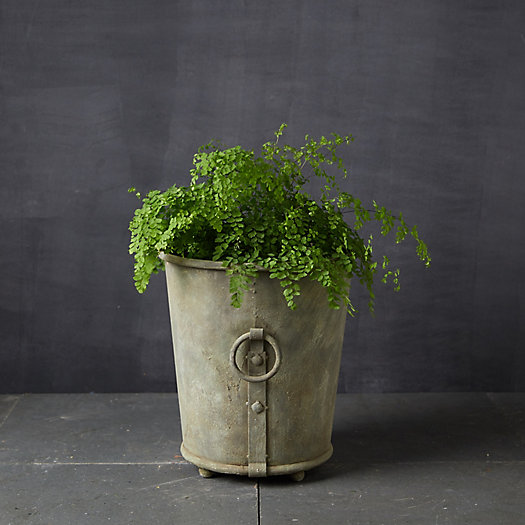View larger image of Galvanized Ring Handle Planter