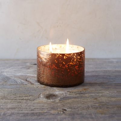 Sanded Mercury Candle, Woodfire