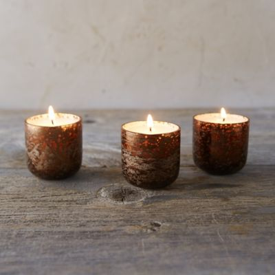 Woodfire Votive Candle Trio