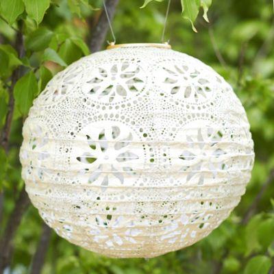 Floral Lace Solar Lantern