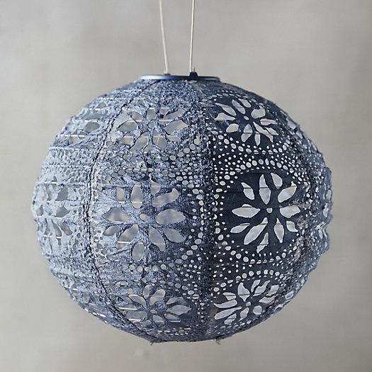 View larger image of Floral Lace Solar Lantern