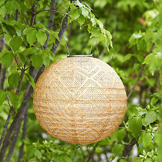 View larger image of Geometric Lace Solar Lantern