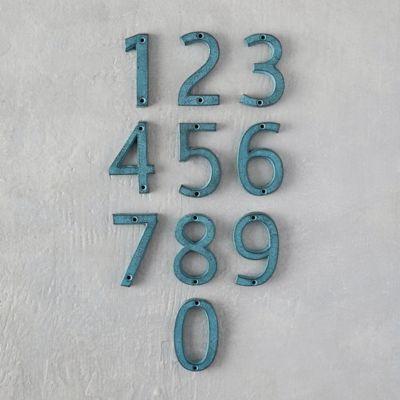Verdigris Iron Numeral