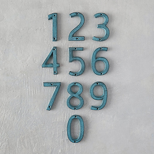 View larger image of Verdigris Iron Numeral