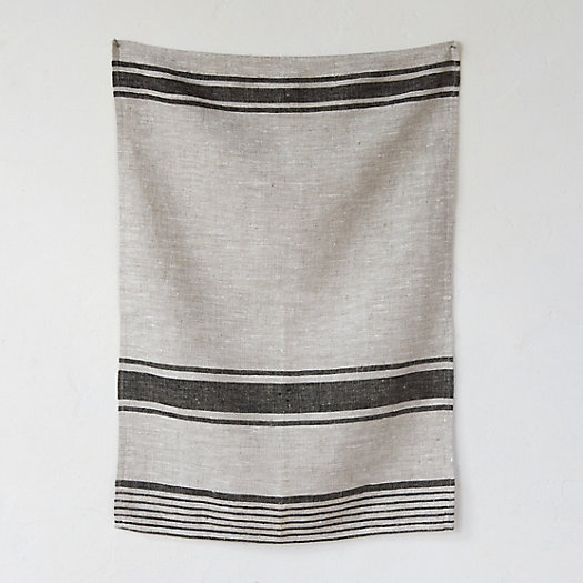 View larger image of Linen Market Stripe Tea Towel