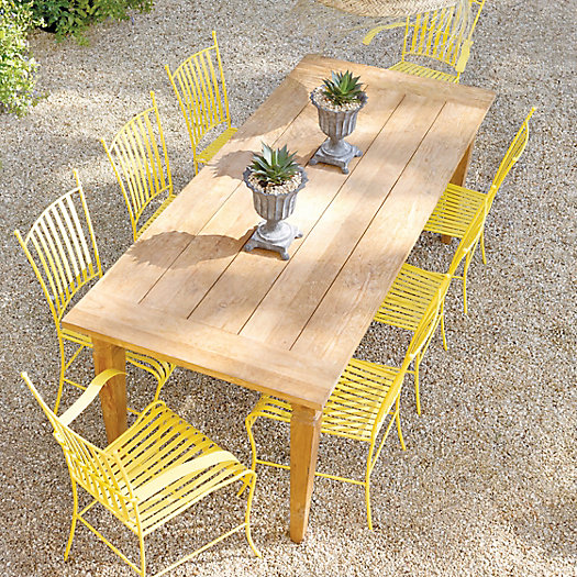 View larger image of Reclaimed Teak Dining Table, 7'