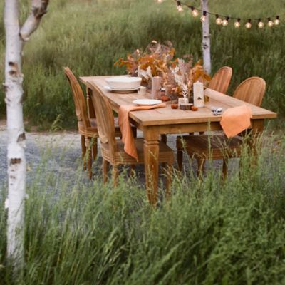 Reclaimed Teak Dining Table, 7'