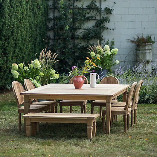 View larger image of Reclaimed Teak Square Dining Table