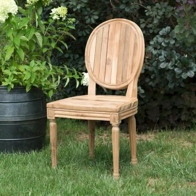 Teak Oval Side Chair
